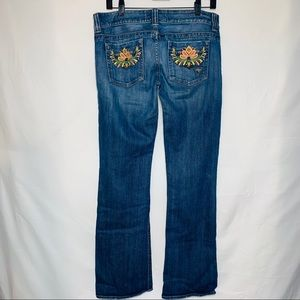 Guess Light Wash Bootcut Pocket Detailed Jeans